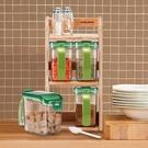 樂扣樂扣調味盒430ml附木層架四入組鹽盒糖盒HPL949S4-大廚師百貨