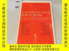 二手書博民逛書店英文原版:A罕見CONSTITUTION FOR EUROPEY