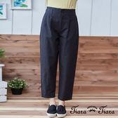 【Tiara Tiara】激安 單色素面寬版長褲(深灰)