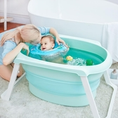 浴盆大號兒童洗澡浴盆小孩可坐躺折疊新生兒童洗澡桶超大寶寶用品浴桶【快速出貨八折下殺】JY