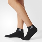 ADIDAS 3S PER AN HC LOGO SOCKS 短襪 (五入) 基本款 休閒 黑 白 【運動世界】 AA2292