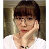 現貨-韓版金屬細邊眼鏡框 圓形男女文藝眼鏡架復古配近視平光鏡超輕眼鏡經典復古金屬大框眼鏡