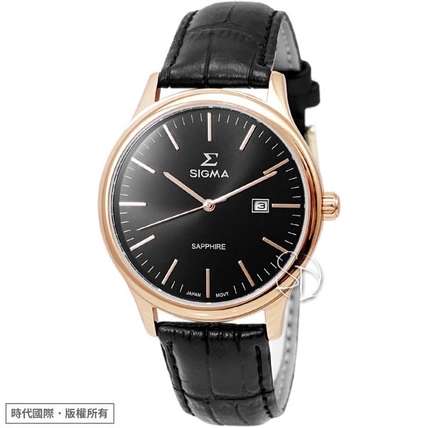 【台南 時代鐘錶 SIGMA】簡約時尚 藍寶石鏡面簡約俐落男錶 1636M-R1 黑 40mm 平價實惠好選擇
