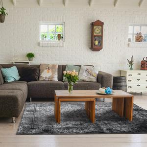 【YFS】史莫克地毯 柔軟 親膚 易整理 仿古印染地毯170x240c
