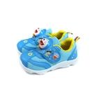 哆啦A夢 休閒運動鞋 電燈鞋 藍色 魔鬼氈 中童 童鞋 DMKX90706 no896