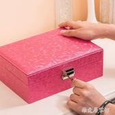 歐式手飾品簡約首飾盒帶鎖       SQ8632『樂愛居家館』