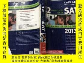 二手書博民逛書店Kaplan罕見12 Practice Tests for th