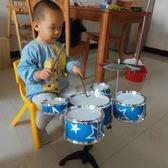 架子鼓初學者練習鼓仿真爵士鼓樂器音樂玩具鐳射五鼓1-2-3歲 熊熊物語