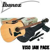 【非凡樂器】Ibanez VC50NJP 木吉他套裝組/包含了演奏所需的所有配備/公司貨保固【原木色】