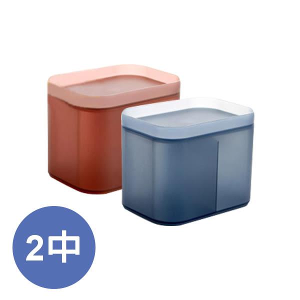 2入-無印風加厚有蓋收納盒-中(4色可選)
