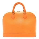 LOUIS VUITTON LV 路易威登 橘色EPI水波紋手提包 Alma M40623 【BRAND OFF】