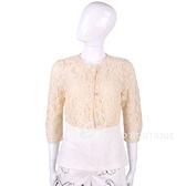 MARELLA 粉橘色蕾絲七分袖短版外套 1520516-E2