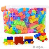兒童塑料寶寶積木1-2幼兒園7-8-10益智模型拼裝拼插男孩3-6歲玩具igo    西城故事