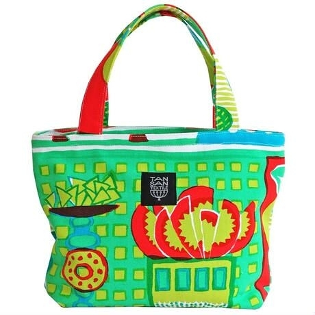 Mini tote Bag  迷你輕便包 - welcome fruits green
