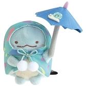 小禮堂 角落生物 恐龍  迷你沙包玩偶 沙包娃娃  絨毛玩偶 絨毛娃娃 布偶 (藍 撐傘) 4974413-78467