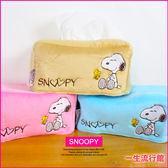 《熱銷》史努比 SNOOPY 正版 絨毛面紙套 衛生紙盒 面紙盒 B01270