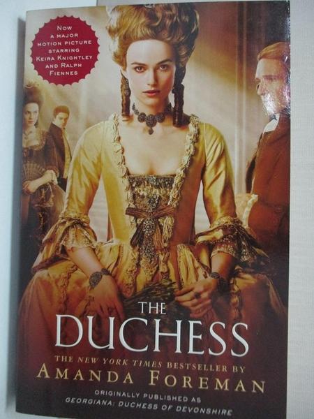【書寶二手書T8/原文小說_IE8】The Duchess_Foreman, Amanda