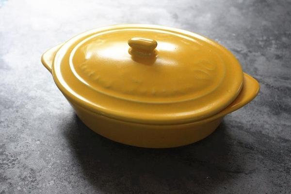 [協貿國際]橢圓形帶蓋烤碗陶瓷焗飯盤水果烤箱餐具烘焙菜芝士西餐家用碗1入