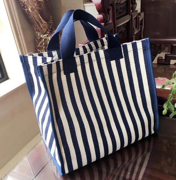 帆布包側背防水買菜手提袋女包大容量環保便攜購物袋【愛物及屋】