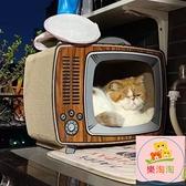 貓窩 貓抓板貓窩一體紙箱耐用瓦楞紙耐磨貓爪板立式磨爪電視機貓咪用品【樂淘淘】