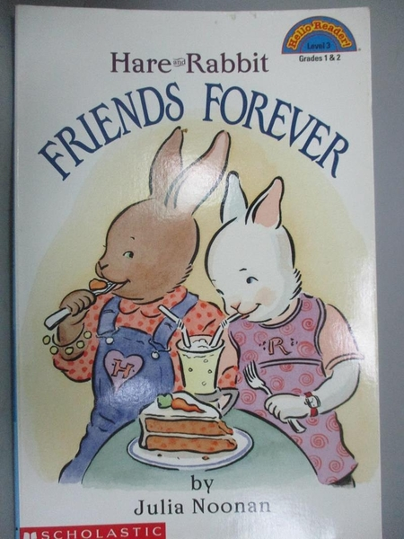 【書寶二手書T8/少年童書_ZEO】Hare and Rabbit: Friends Forever_Julia Noo