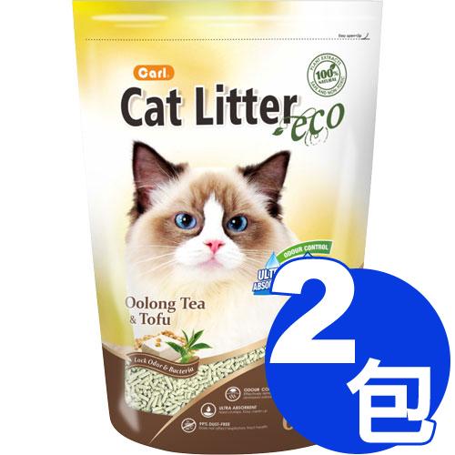 【寵物王國】CARL卡爾-環保豆腐貓砂(烏龍茶)6L x2包免運組合 (324520)