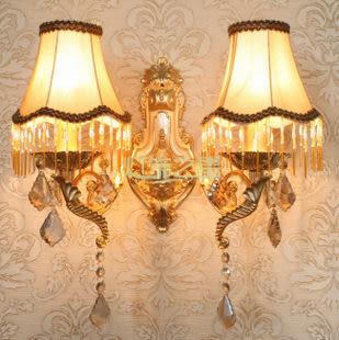 設計師美術精品館壁燈歐式客廳臥室餐廳燈現代簡約水晶壁燈床頭燈