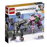 樂高LEGO Overwatch 鬥陣特攻 D.Va & 萊茵哈特 75973 TOYeGO 玩具e哥