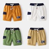 休閒張嘴鯊魚圖案五分短褲 童裝 短褲 下著