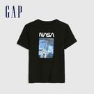Gap 男童 創意元素印花休閒短袖T恤 588563-正黑色