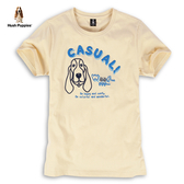 Hush Puppies T恤 男裝立體刺繡線條狗圖騰棉質T恤
