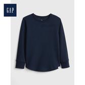 Gap男幼童紋理感針織圓領長袖T恤496350-藏青色