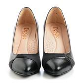 DeSire 拼接時尚跟鞋-黑