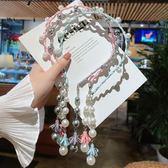 兒童頭飾韓國兒童發卡發箍公主寶寶花環女童帶齒防滑珍珠發飾頭箍壓發頭飾 嬡孕哺