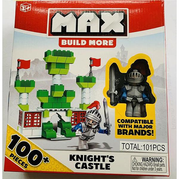 MAX BUILD MORE創意積木 騎士組 含100塊 一個公仔 相容LEGO
