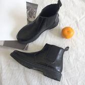 復古馬丁靴女英倫風切爾西短靴平底 學生百搭 錢夫人小鋪