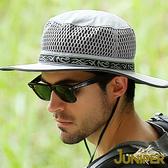 遮陽帽子-大帽檐戶外防曬鏤空網帽登山休閒大帽簷高頂漁夫帽J7513 JUNIPER