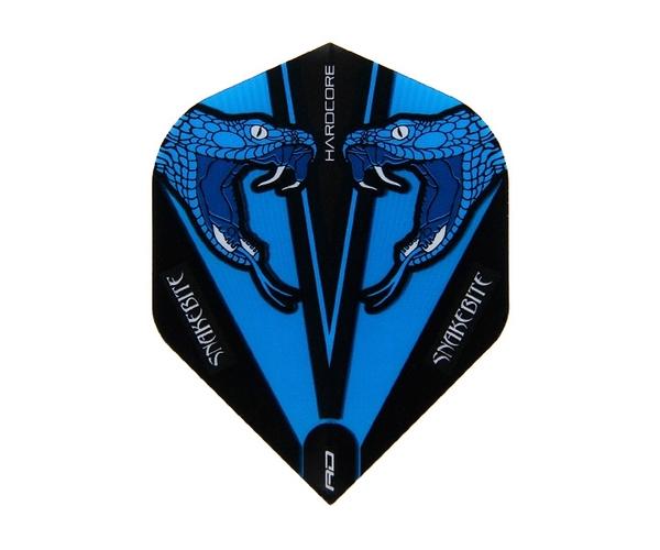 【Red Dragon】Snakebite Peter Wright Model Hardcore Transparent Standard Blue F6417 鏢翼 DARTS