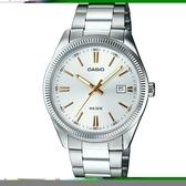 【CASIO】 時尚新貴造型腕錶-銀面X金羅馬(MTP-1302D-7A2)