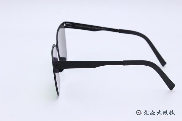 ROAV 偏光太陽眼鏡 AUDREY - Mod.SS002 ( 霧黑框/粉水銀) 薄鋼折疊墨鏡