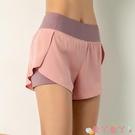 健身褲運動短褲女防走光寬松跑步訓練瑜伽褲速乾夏季高腰外穿健身三分褲 愛丫 免運