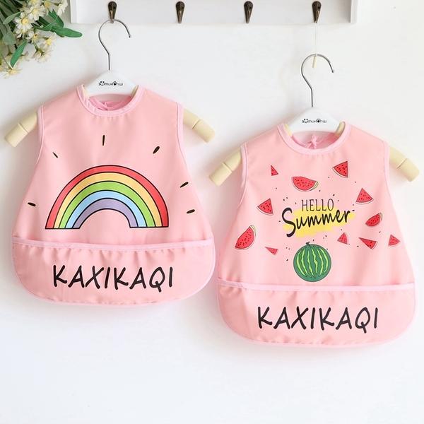2件|嬰兒童吃飯圍兜罩衣防水圍兜寶寶圍嘴口水巾【奇趣小屋】
