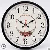 鐘表掛鐘客廳圓形創意個性時鐘