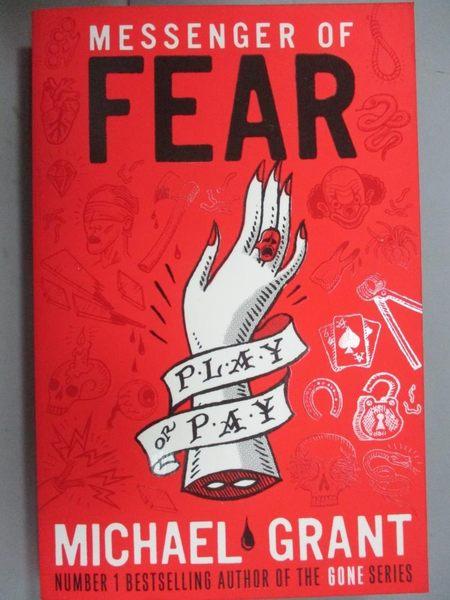【書寶二手書T2/原文小說_HAX】Messenger of Fear_Michael Grant