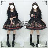 洋裝-【包郵】阿爾克納之夢op 重工華麗復古開襟蕾絲lolita連身裙-奇幻樂園