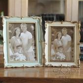 金屬相框 6寸7寸創意擺台相框美式做舊簡約家居影樓照片框