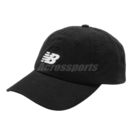 New Balance 帽子 Logo Baseball Cap 黑 白 男女款 老帽 棒球帽 運動休閒 【ACS】 LAH91014BK