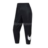 Nike 長褲 As W Nsw Pant Wvn Swsh 黑 白 女款 運動休閒 【PUMP306】 AR3077-010