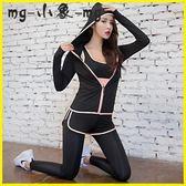 運動套裝-瑜伽服大碼寬鬆專業速干衣健身服跑步運動套裝