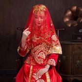 結婚婚慶用品婚禮大紅蒙頭紗巾蓋頭頭紗披肩